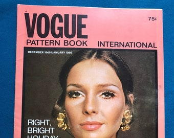 Vogue Pattern Book International Magazine Sewing Patterns December 1968 January 1969 Designer Fashion Ephemera