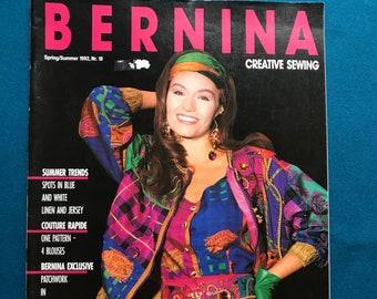 Bernina Creative Sewing Magazine Spring Summer 1992 No. 18 Patterns Uncut Kids Sailor Shirt Raincoat Jacket