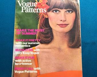 Vogue Patterns Magazine Home Catalog May June 1974 Designer Fashion Ephemera Photos Illustrations