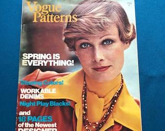 Vogue Patterns Magazine Home Catalog March April 1974 Designer Fashion Ephemera Photos Illustrations