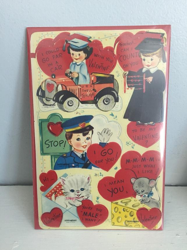 Retro Love Cards Valentine S Day Gift Anniversary Card