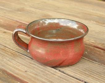 Pottery Soup Mug Rusty Red NC Pottery