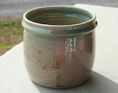 Pottery Utensil Holder Traditional Salt Glazed Spoon Crock