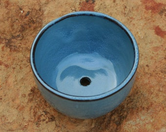 Small Light Blue Pottery Flower Pot Succulent Pot NC Pottery