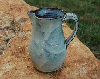 White Pottery Creamer Pitcher Farmhouse Ware NC Pottery