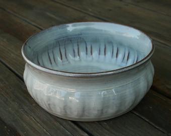 White Pottery Bowl NC Pottery Serving Bowl