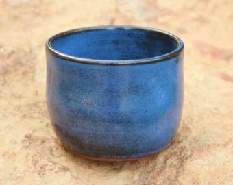 Extra Small Blue Pottery Flower Pot Air Plant Pot NC Pottery