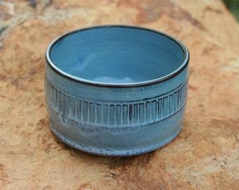 Small Light Blue Pottery Bowl NC Pottery