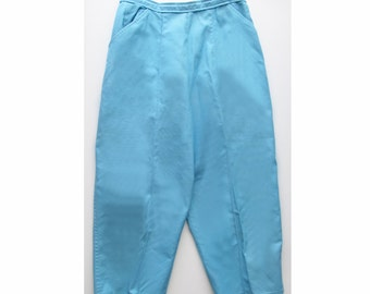 5006c673ad0 1950s Rockabilly Turquoise WHITE STAG Clam Diggers - Capri Pants - Toreador  Pants