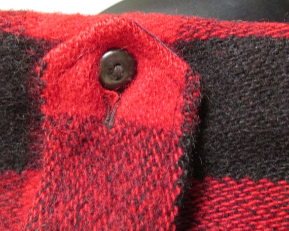 1940s-50s red plaid wool bomber jacket - image 3