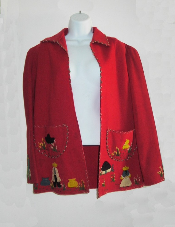 1930's Monterrey Mexican Jacket with appliques - image 4