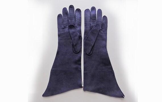 1940s Art Deco  Lilly Dache Dark Navy Blue winter