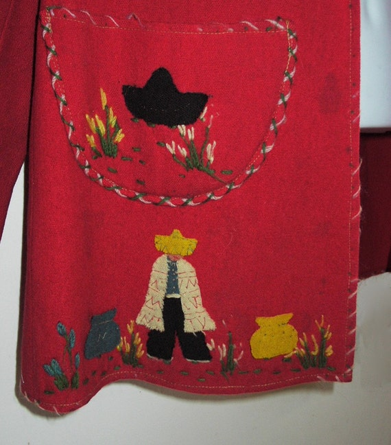 1930's Monterrey Mexican Jacket with appliques - image 5