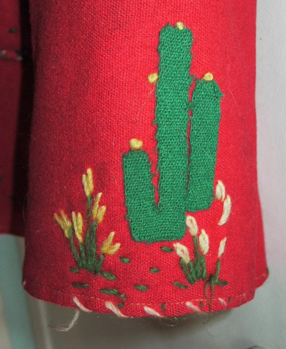 1930's Monterrey Mexican Jacket with appliques - image 2