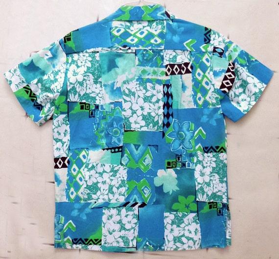 1970's XL Homemade Hawaiian TIKI shirt
