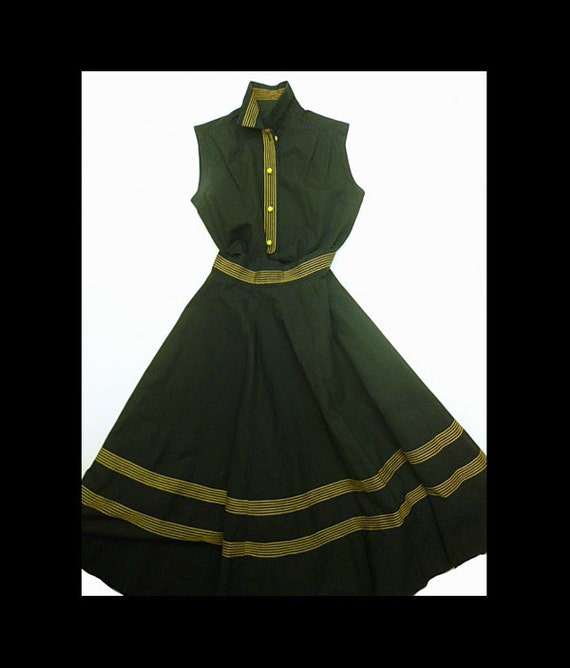 Rare Rockabilly matching Swing skirt and blouse-Rn