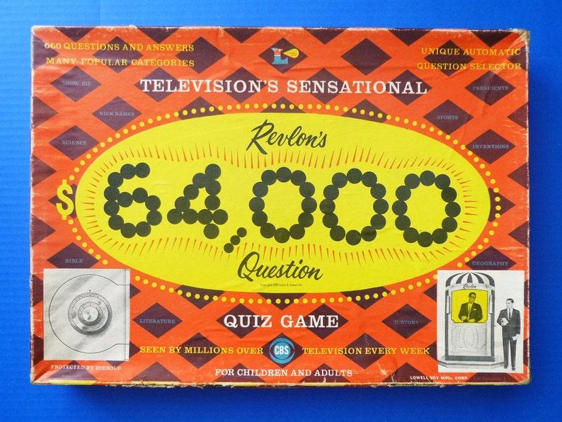 1955 Revlon's 64,000 Dollar TV Quiz Show Board Game
