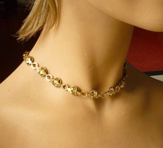 1920's - 1930's Art Deco gold tone necklace