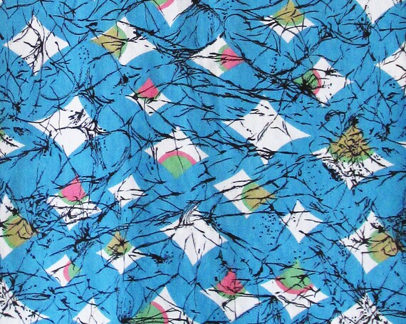 1950s ATOMIC cotton sleeveless top - image 2
