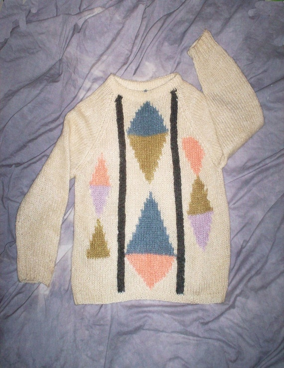 1950s-60s man's pullover / sweater / Mohair / Atom