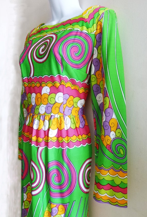 1970's Maxi Dress by designer Victor Costa with Ps