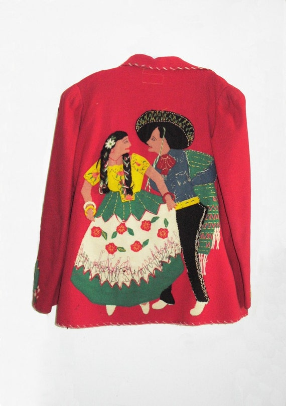 1930's Monterrey Mexican Jacket with appliques - image 1