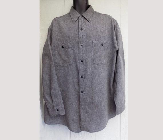 1940s original RARE Large Big Yank Work Shirt Gray