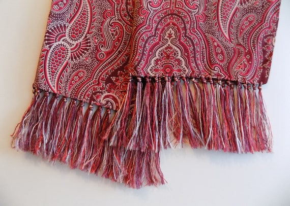 1940s silk men's opera scarf / Dress Scarf / weddi