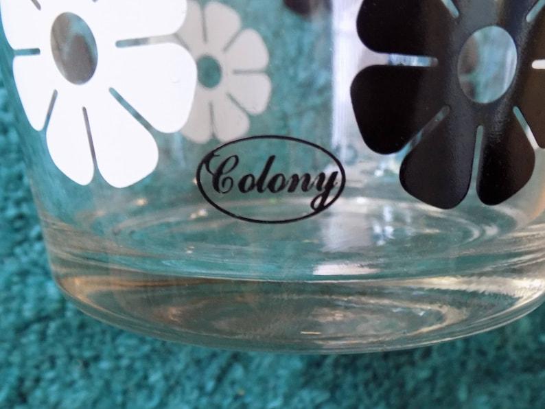 Années 1960 -70s MOD «Colony» Chip bowl / Flower power / noir et blanc / MINT
