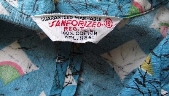 1950s ATOMIC cotton sleeveless top - image 4