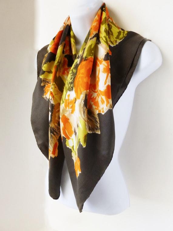 1950's Lanvin Costillo Designer Silk scarf