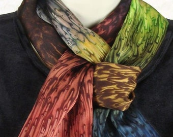 Earth Tone Brown Hand Dyed Silk Gift for Her