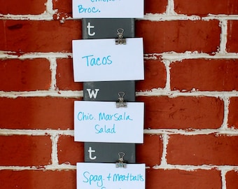 "Menu Board - 3.75"" x 36.5"" - Made to Order Meal Planner"