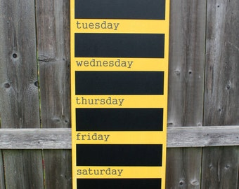 "Menu Board - Chalkboard - 12"" x 36"" Made To Order - Family Weekly Menu Plannner - family command center - Busy family organizer - Dinner"