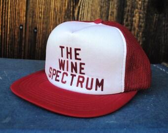9b1467c7c1b Vintage Snap Back Trucker Cap for the Burgundy Wine Lover