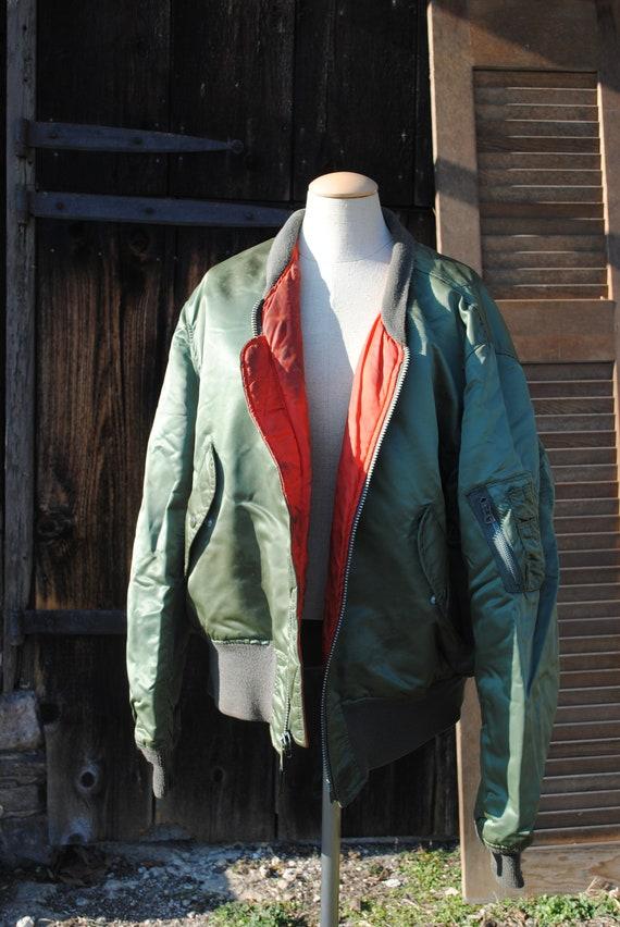 Go Big Vintage Army Green Military Flight Jacket