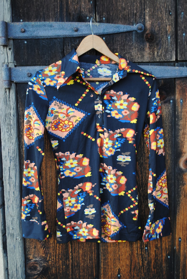 Hip to be Granny Square Novelty Print Seventies Shirt