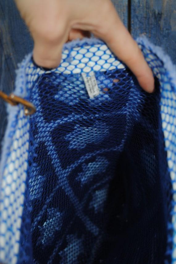 Vintage Granny Square Afghan Knit Tote - image 4