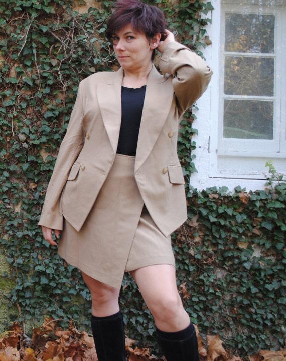 Vintage Donna Karan DKNY Sample Sale Suit Wrap Ski