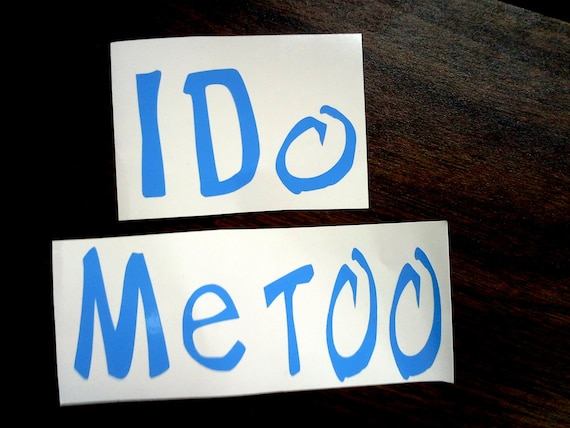 I Do - Me Too DECAL STICKERS For Wedding Shoes - Custom
