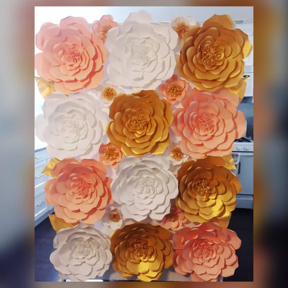 Sale One Large White Paper Flower Handmade Paper Flower By Simply