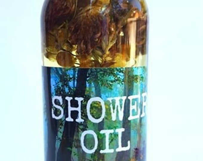 Lemon Rose & Geranium Shower Oil 8 oz Multi-Use