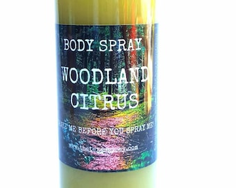 WHOLESALE* Woodland Citrus Body Spray 8 oz *WHOLESALE*
