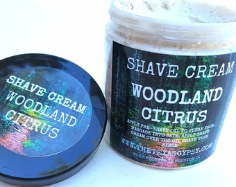 Woodland Citrus Shaving Cream 8oz Jar
