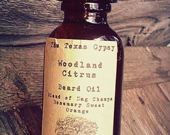 Woodland Citrus  Beard Oil 1 oz.(Citrus Nag Champa Eucalyptus)