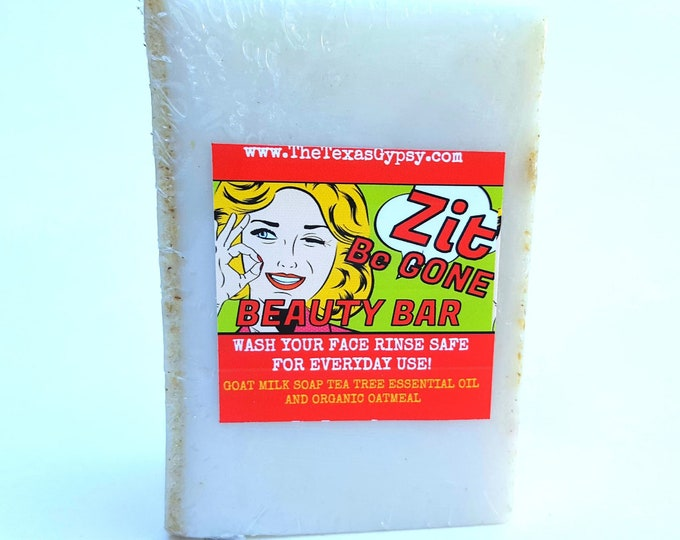 Zit Be Gone Beauty Bar  Goats Milk Soap 7oz HUGE!!