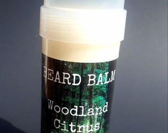 Woodland Citrus Beard Balm 2 oz twist up (Citrus Nag Champa Eucalyptus)