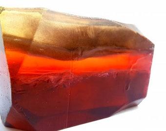 """Garnet """"Amber Woods"""" Crystal Soap 7 oz bar HUGE!"""