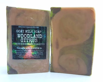 WHOLESOME*Woodland Citrus Goat Milk Soap 7 oz Bar