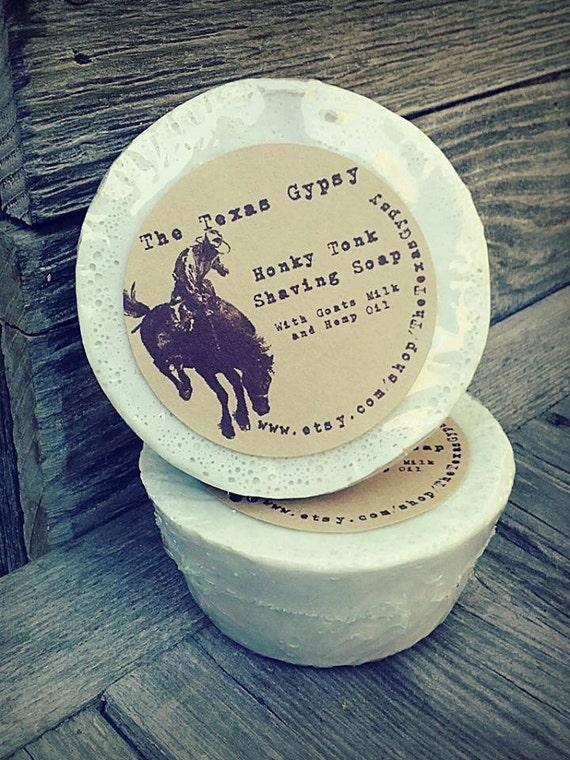 Honky Tonk  Shaving Soap- with Goats Milk and Hemp Oil
